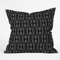 Holli Zollinger MUDCLOTH BLACK Outdoor Throw Pillow