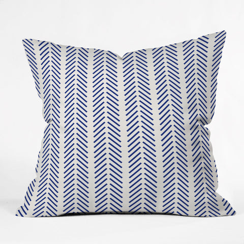 Nautical Lines Outdoor Throw Pillow Holli Zollinger