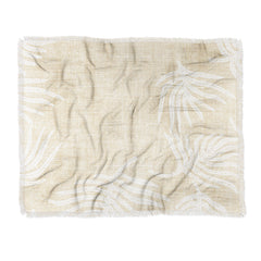 Holli Zollinger PALM LINEN Throw Blanket