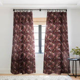 Holli Zollinger POPPY WILD BURGUNDY Sheer Window Curtain