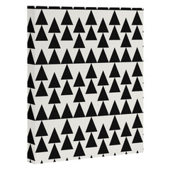 Holli Zollinger Triangles Black Art Canvas