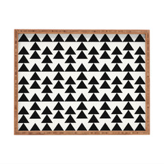 Holli Zollinger Triangles Black Rectangular Tray