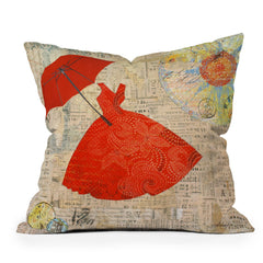 Irena Orlov Lady In Red 1 Throw Pillow