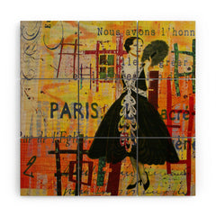 Irena Orlov Paris Fashion 1 Wood Wall Mural
