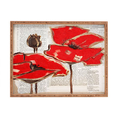 Irena Orlov Red Perfection Rectangular Tray