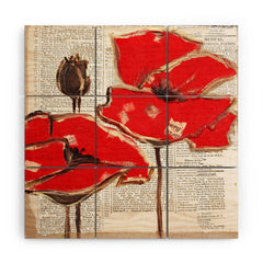 Irena Orlov Red Perfection Wood Wall Mural