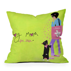 Isa Zapata Hold me mom Throw Pillow