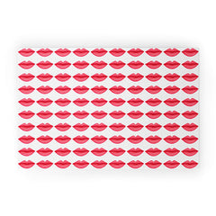 Isa Zapata My Lips Pattern Welcome Mat