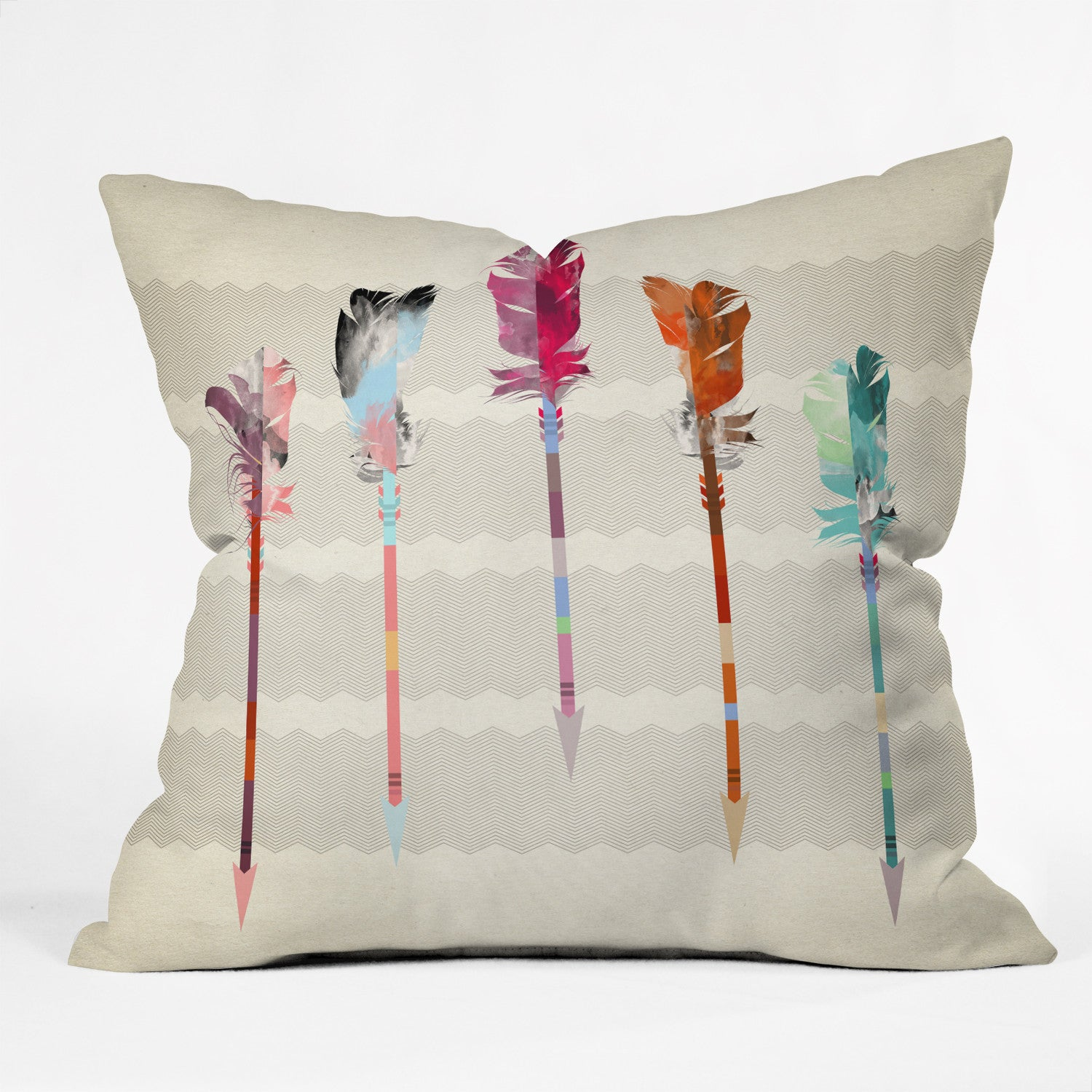 Iveta Abolina Feathered Arrows Outdoor Throw Pillow