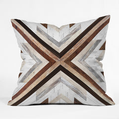 Iveta Abolina Geo Wood 1 Outdoor Throw Pillow