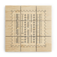 Iveta Abolina Mud Cloth Inspo VI Wood Wall Mural
