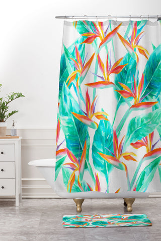 Birds Of Paradise Shower Curtain And Mat