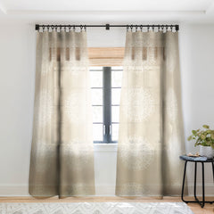 Jacqueline Maldonado Boho Mandala Natural Sheer Window Curtain