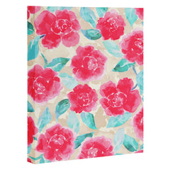 Jacqueline Maldonado Cottage Peonies Pink Art Canvas