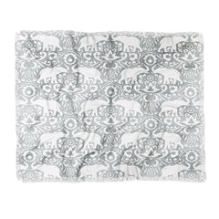 Jacqueline Maldonado Elephant Damask Paloma Throw Blanket