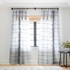 Jacqueline Maldonado Manifest Slate Blue Sheer Window Curtain