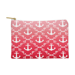 Jacqueline Maldonado Nautical Knots Ombre Red Pouch