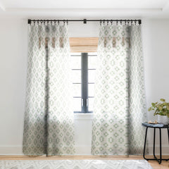 Jacqueline Maldonado Watercolor Shibori Boho Sheer Window Curtain