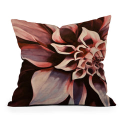 John Turner Jr Flower Throw Pillow