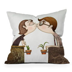 Jose Luis Guerrero Beso Throw Pillow