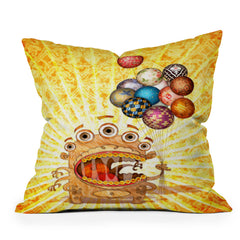 Jose Luis Guerrero Monster Throw Pillow