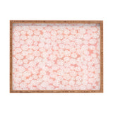 Joy Laforme Pink Dahlias Rectangular Tray