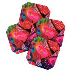 Julia Da Rocha Bright Bloom Coaster Set