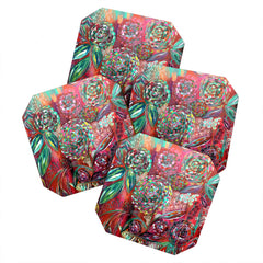 Julia Da Rocha Crazy Bloom Coaster Set