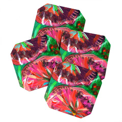 Julia Da Rocha Peony Bloom Coaster Set