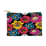 Juliana Curi Black Flower Pouch