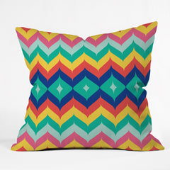 Juliana Curi Chevron 5 Outdoor Throw Pillow