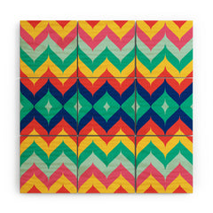 Juliana Curi Chevron 5 Wood Wall Mural