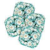 Juliana Curi Classic Turquoise Coaster Set
