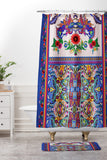 Juliana Curi Embroided Shower Curtain And Mat