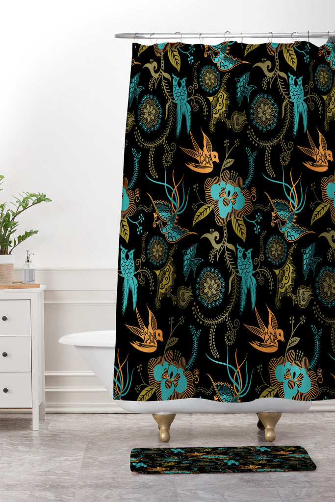 Juliana Curi Flower Japanese Shower Curtain And Mat | Deny Designs