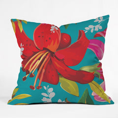 Juliana Curi Mix Flower 1 Outdoor Throw Pillow