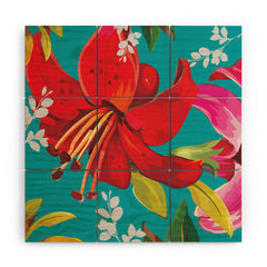 Juliana Curi Mix Flower 1 Wood Wall Mural