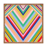 Juliana Curi Stripes Rainbow Square Tray