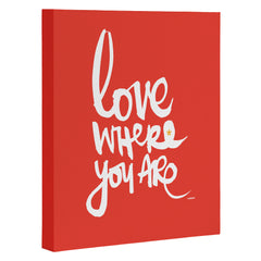 Kal Barteski Love Red Art Canvas