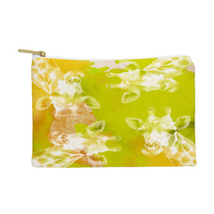 Kangarui Watercolor Giraffe Green Pouch