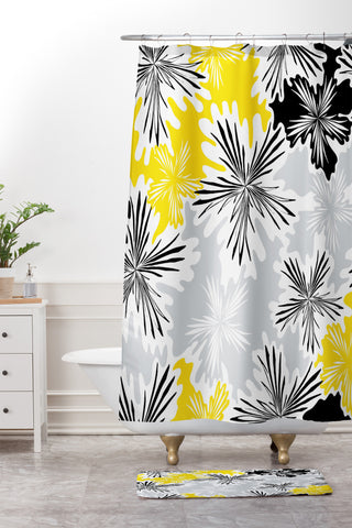 Karen Harris Bumble Bee Whisper Shower Curtain And Mat