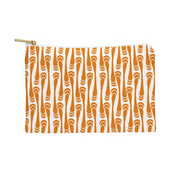 Karen Harris Teardrops Orange On White Pouch
