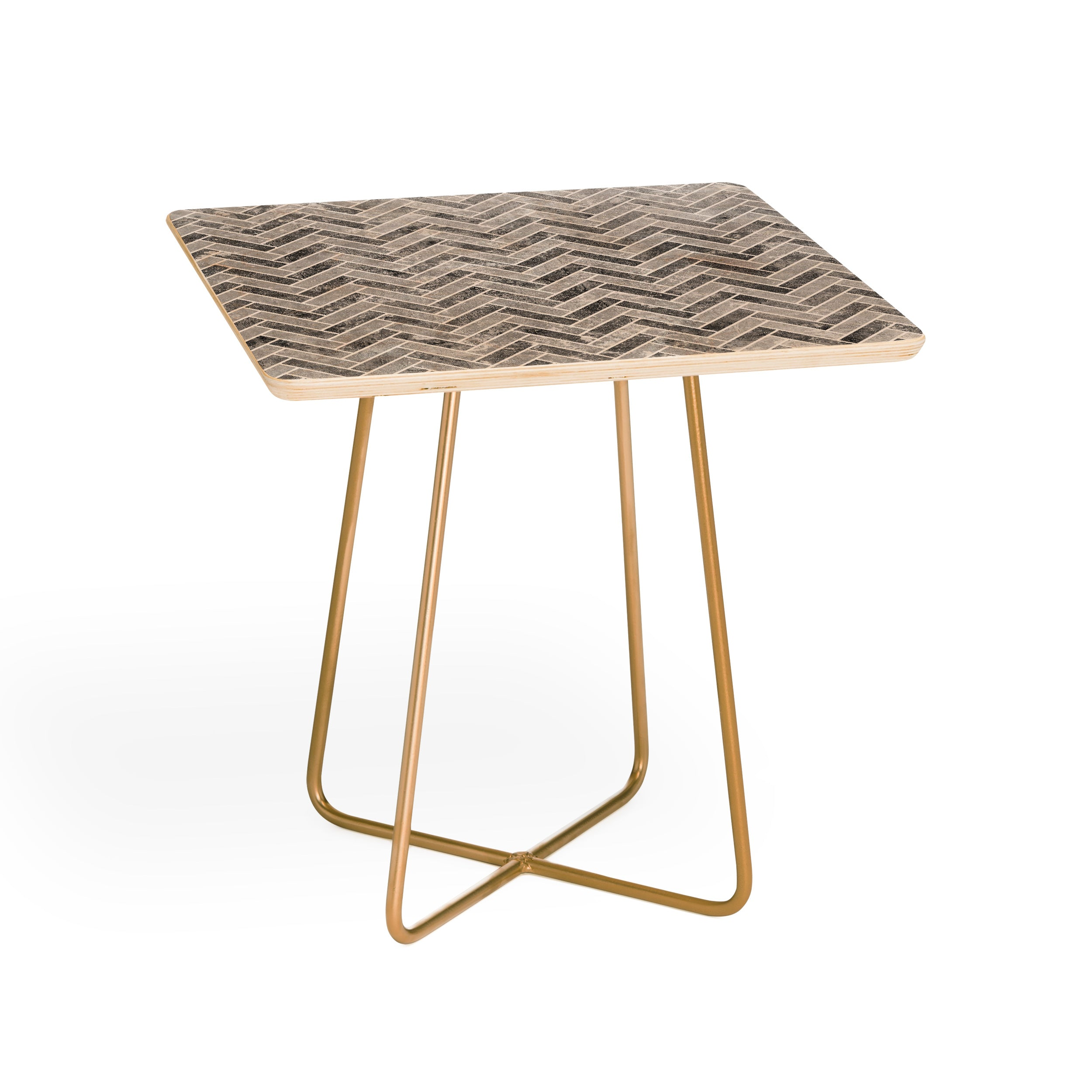 Kelly Haines Concrete Herringbone Side Table