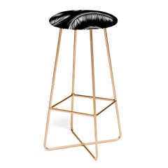 Kelly Haines Monochrome Palm Leaves Bar Stool