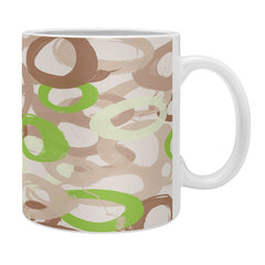 Kent Youngstom Brown Green Circles Coffee Mug