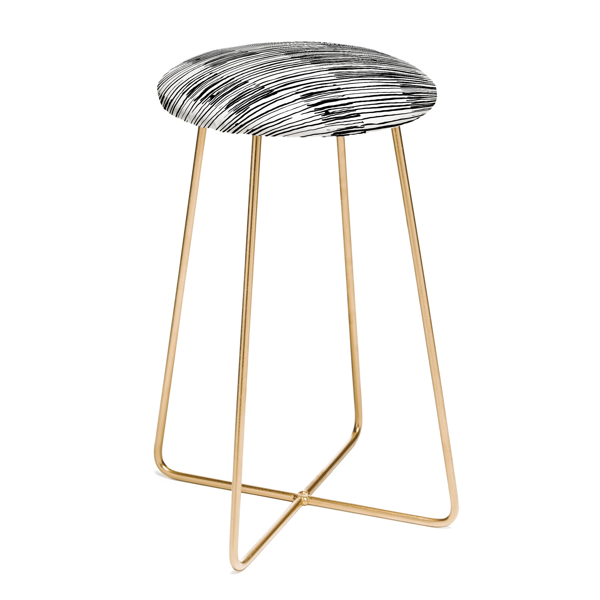 Kent Youngstrom sea stripes Counter Stool