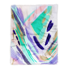 Laura Fedorowicz All the Pieces Throw Blanket