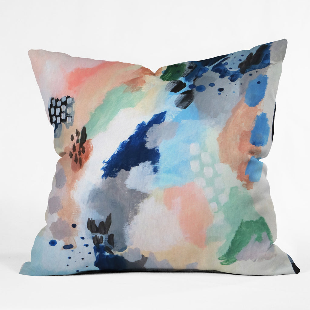 Seasons Abstract Throw Pillow Laura Fedorowicz