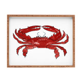 Laura Trevey Red Crab Rectangular Tray