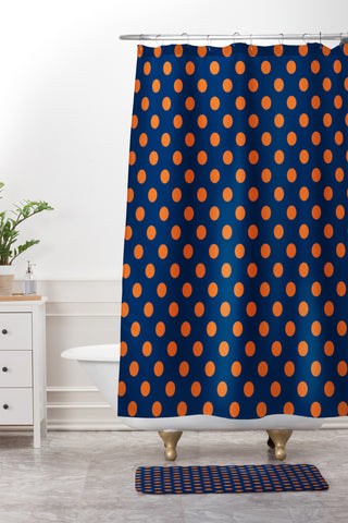 Blue And Orange Polka Dots Tablecloth Leah Flores